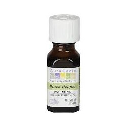 Aura Cacia Organics Black Pepper Essential Oil, 0.5floz