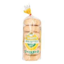 Alvarado Street Bakery Sprouted Wheat Onion & Poppy Bagels, 20oz