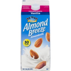 Blue Diamond Unsweetened Vanilla Almond Breeze, 0.5gal