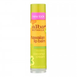 Alba Botanica Coconut Cream Lip Balm, 0.15oz