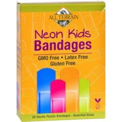 All Terrain Neon Kids Latex Free Bandages, 20 count