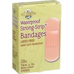 All Terrain Waterproof Strong-Strip Bandages, 20 count
